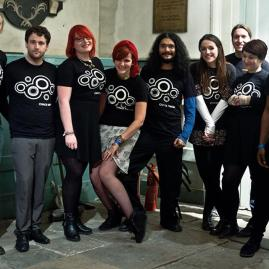 Chaos Theory team wearing AFTA-designed t-shirts at an event in Kuwait.