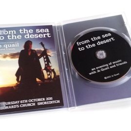 Jo Quail 'From The Sea To The Desert' DVD open case