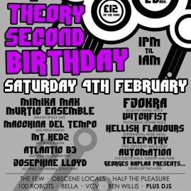 For Chaos Theory. Poster for all-day event.
