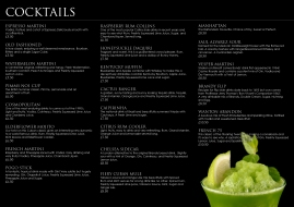 Cocktail menu (inner)