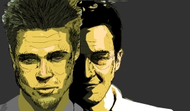 Brad Pitt and Edward Norton (Fight Club)