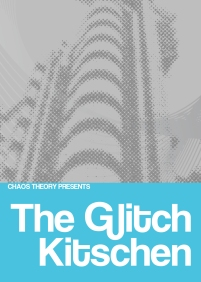 For Chaos Theory. Front of a general flyer for a electronica/glitch night.