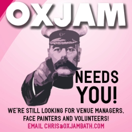 Oxjam 2013 application advert
