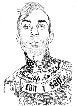 Travis Barker (Blink 182, +44, The Transplants)
