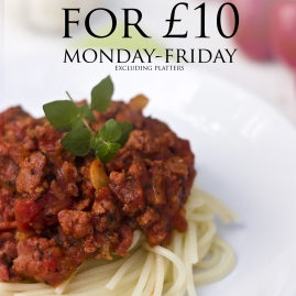 Two Meals for £10 poster