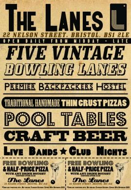 Voucher poster (Bristol Lanes)