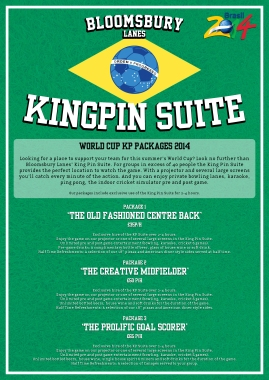World Cup Kingpin offers (Bloomsbury Lanes)