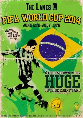 World Cup poster (Bristol Lanes)